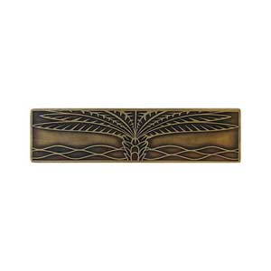 Antique Brass Royal Palm Pull