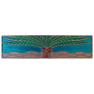 Brilliant Pewter with Turquoise Royal Palm Pull