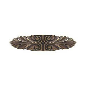 Antique Brass Opulent Scroll Pull