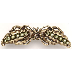 Antique Brass Pearly Peapod Pull