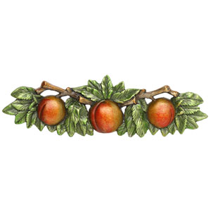 Hand-Tinted Antique Pewter Georgia Peach Pull