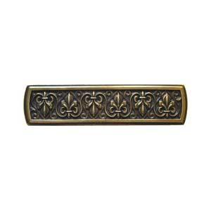 Antique Brass Fleur-de-Lis Pull