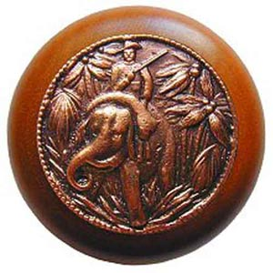 Cherry Wood Jungle Patrol Knob with Antique Copper
