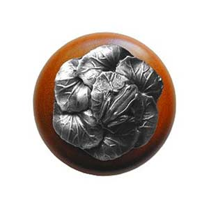 Cherry Wood Leap Frog Knob with Antique Pewter