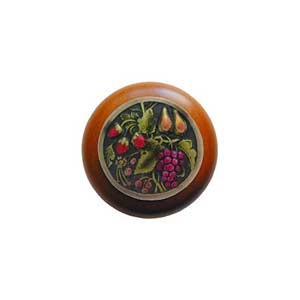 Cherry Wood Tuscan Bounty Knob with Brass