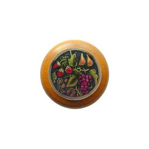 Maple Tuscan Bounty Knob with Brass
