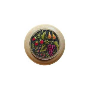 Natural Wood Tuscan Bounty Knob with Brass