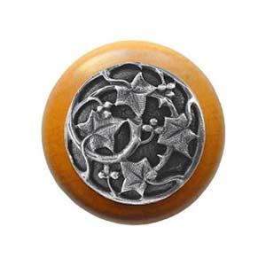 Maple Ivy Knob with Antique Pewter