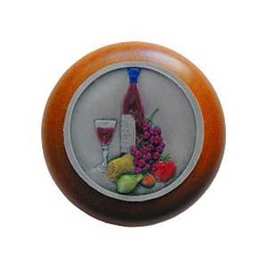 Cherry Wood Best Cellar Knob with Pewter
