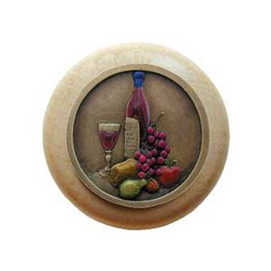 Natural Wood Best Cellar Knob with Brass