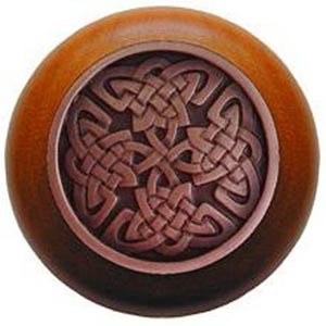 Cherry Wood with Antique Copper Celtic Isles Knob