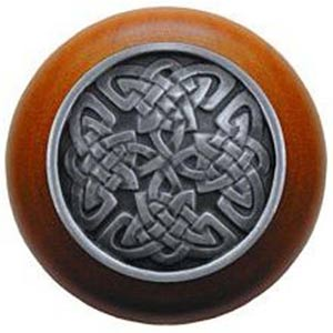 Cherry Wood with Antique Pewter Celtic Isles Knob