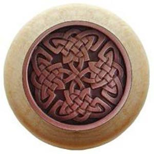 Natural Wood with Antique Copper Celtic Isles Knob