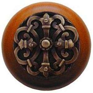 Cherry Wood with Antique Brass Chateau Knob