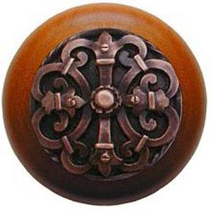 Cherry Wood with Antique Copper Chateau Knob