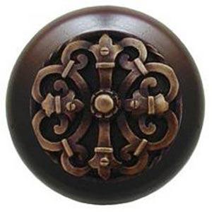 Dark Walnut with Antique Brass Chateau Knob
