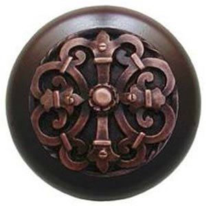 Dark Walnut with Antique Copper Chateau Knob