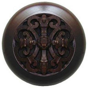 Dark Walnut with Dark Brass Chateau Knob