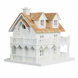 Cape Cod Cottage Birdhouse with Bracket