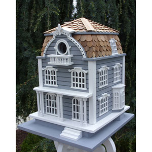 Signature Series Sag Harbor Birdhouse - Blue with Mansard Roof