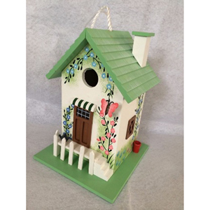Hatchling Series Green Butterfly Cottage Birdhouse