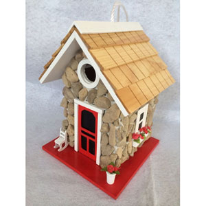 Hatchling Series Stone Fieldstone Guest Cottage Birdhouse