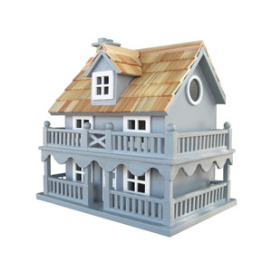 Classic Series Novelty Cottage Birdhouse - Blue