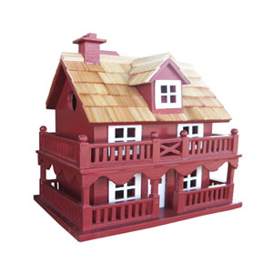 Classic Series Novelty Cottage Birdhouse - Red