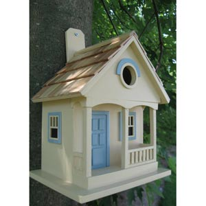 Yellow With Light Blue Pacific Grove Birdhouse