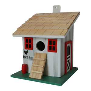 Hatchling Series White Small Chicken Coop Birdhouse