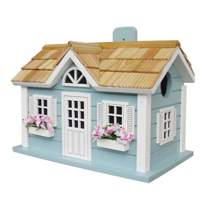 Fledgling Series Blue Nantucket Cottage Birdhouse