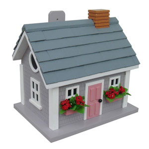 Fledgling Series Gray Vineyard Cottage Birdhouse
