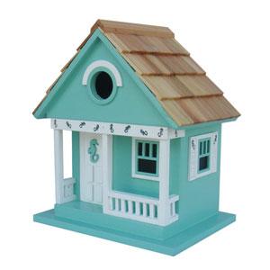 Beachcomber Cottage Collection Aqua Sea Horse Cottage Birdhouse