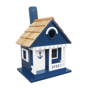 Beachcomber Cottage Collection Navy Anchor Cottage Birdhouse