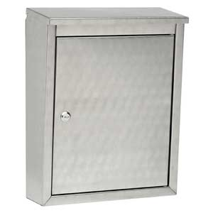Metropolis Stainless Steel with Swirl Pattern Wall Mounted Mailbox