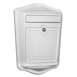 Maison White Locking Wall Mount Mailbox