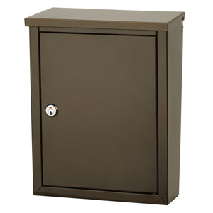 Chelsea Bronze Locking Wall Mount Mailbox