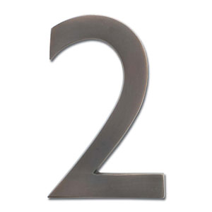 Four Inch Floating House Number Dark Aged Copper 2