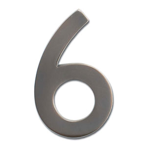 Four Inch Floating House Number Dark Aged Copper 6