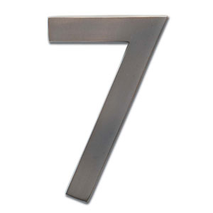 Four Inch Floating House Number Dark Aged Copper 7