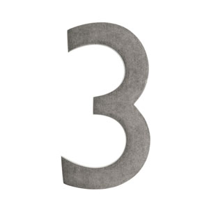 Five Inch Antique Pewter Floating House Number 3