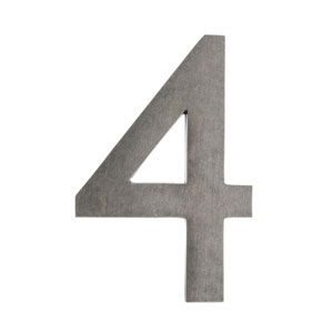 Five Inch Antique Pewter Floating House Number 4