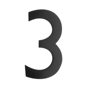Five Inch Black Floating House Number 3