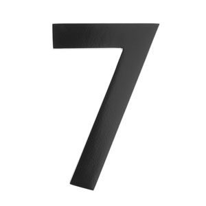 Five Inch Black Floating House Number 7
