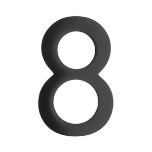 Five Inch Black Floating House Number 8