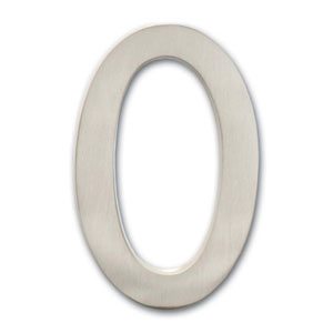 Five Inch Floating House Number Satin Nickel 0