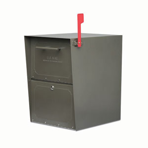 Oasis Jr. Post Mount Mailbox Bronze Stainless Steel