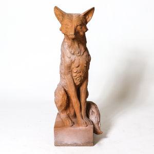 Autumn Rose Fiberstone Astute Fox Figurine