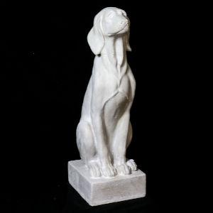 Weather Fiberstone Watchful Dog Figurine
