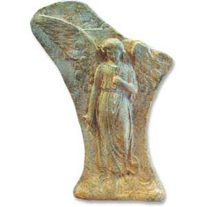 Sandstone Broken Winged Angel Plaque